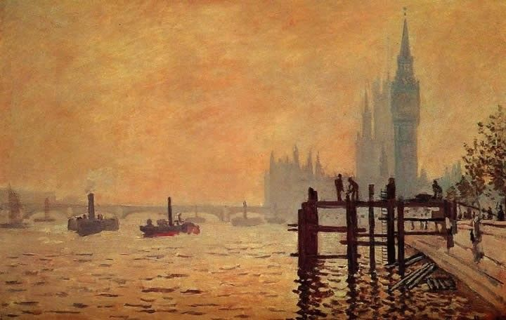 Claude Monet The Thames below Westminster