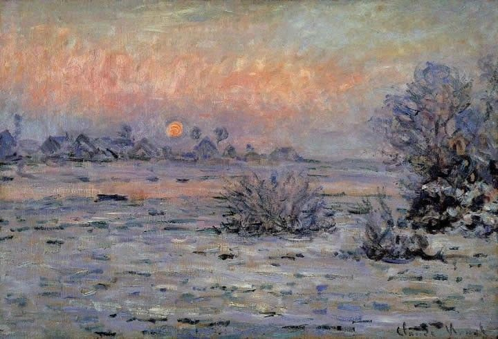 Claude Monet Winter Sun Lavacourt