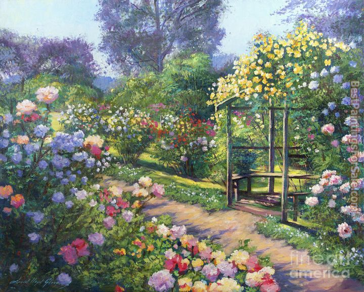 David Lloyd Glover An Evening Rose Garden