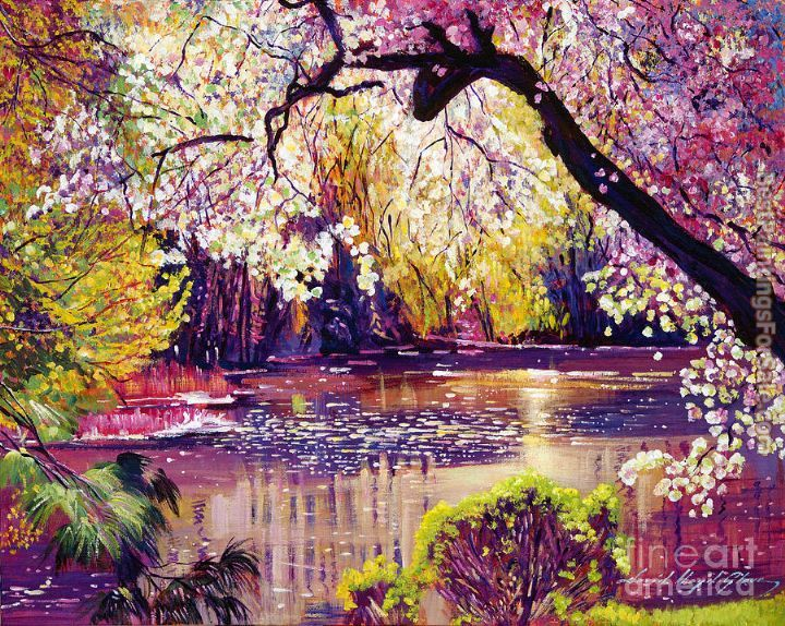 David Lloyd Glover Central Park Spring Pond
