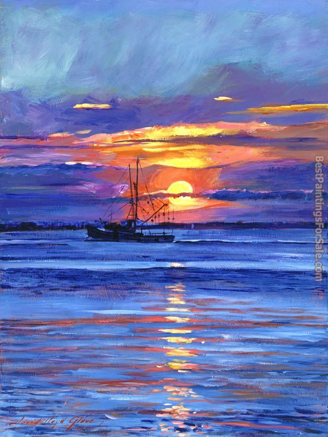 David Lloyd Glover Salmon Trawler at Sunrise