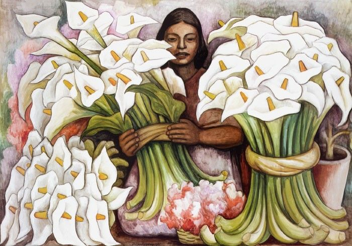 Diego Rivera Vendedora de Alcatraces (Salesman of Gannets)