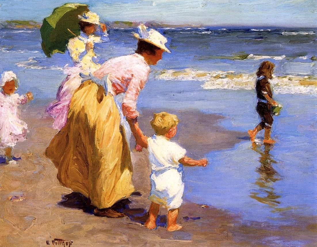 Edward Henry Potthast At the Beach