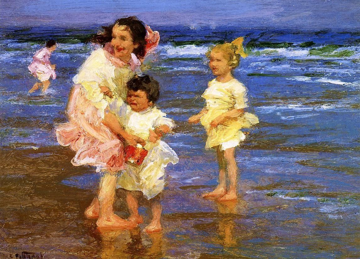 Edward Henry Potthast Cold Feet