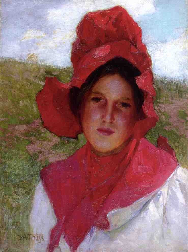 Edward Henry Potthast Girl in a Red Bonnet