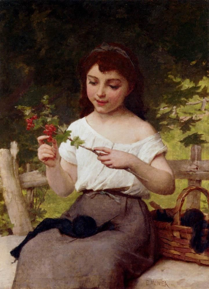 Emile Munier A Sprig of Berries