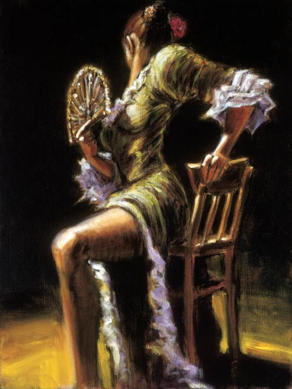 Fabian Perez FLAMENCO DANCER II with fan