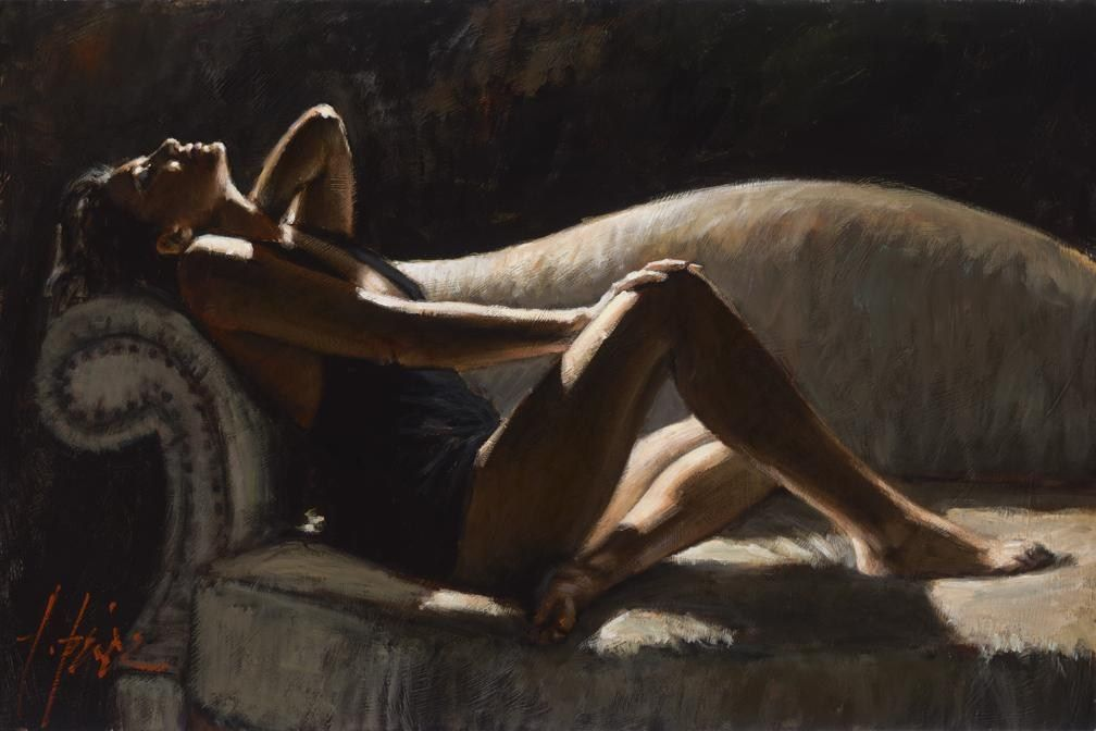 Fabian Perez Paola on thhe Couch