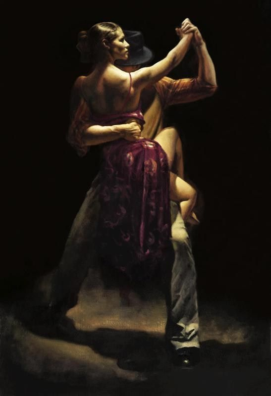 Flamenco Dancer Between Expressions by Hamish Blakely