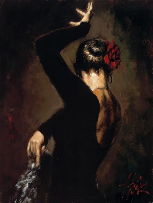 Flamenco Dancer Terciopelo negro II