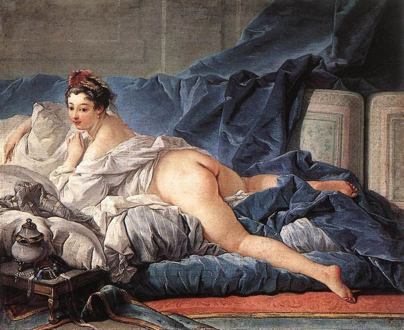 Francois Boucher Brown Odalisque