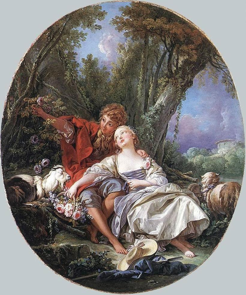 Francois Boucher Shepherd and Shepherdess Reposing