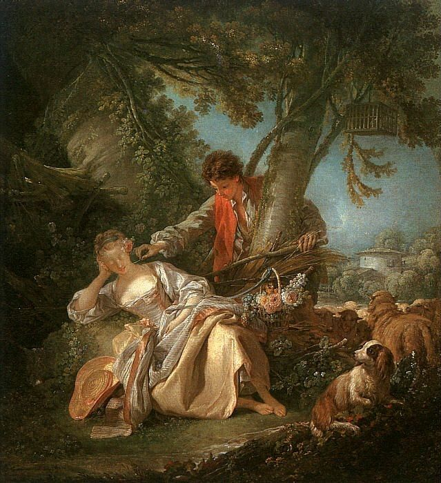Francois Boucher The Interrupted Sleep