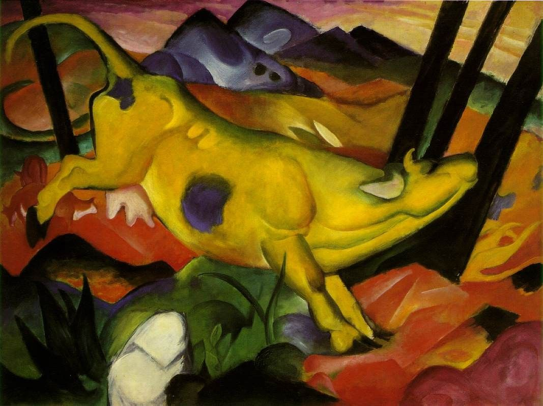 Franz Marc yellow cow