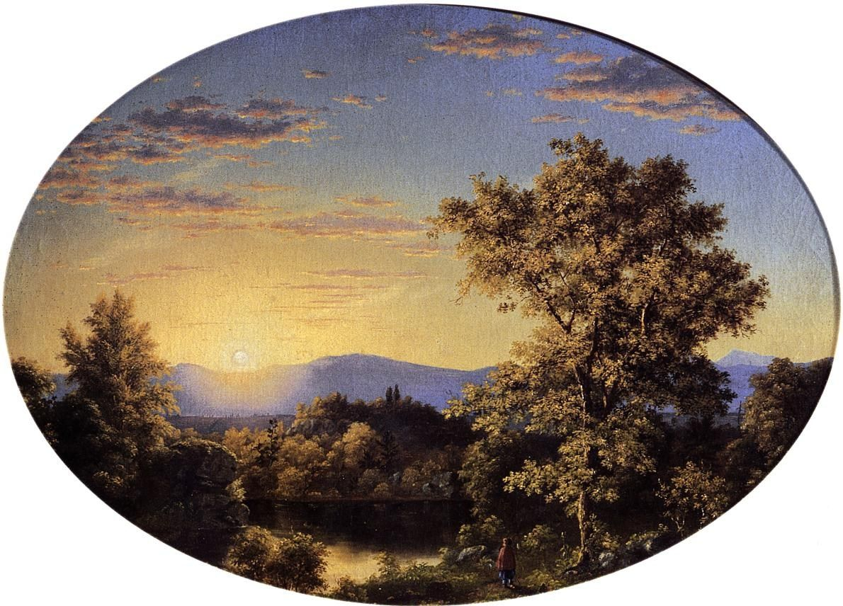 Frederic Edwin Church Twilight among the Mountains