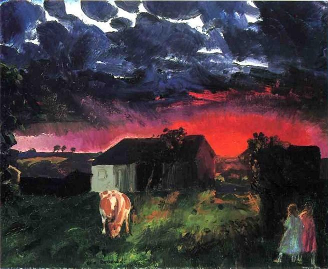 George Bellows Red Sun
