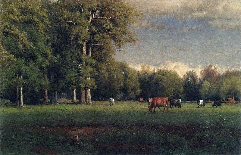 George Inness Landscape with Cattle