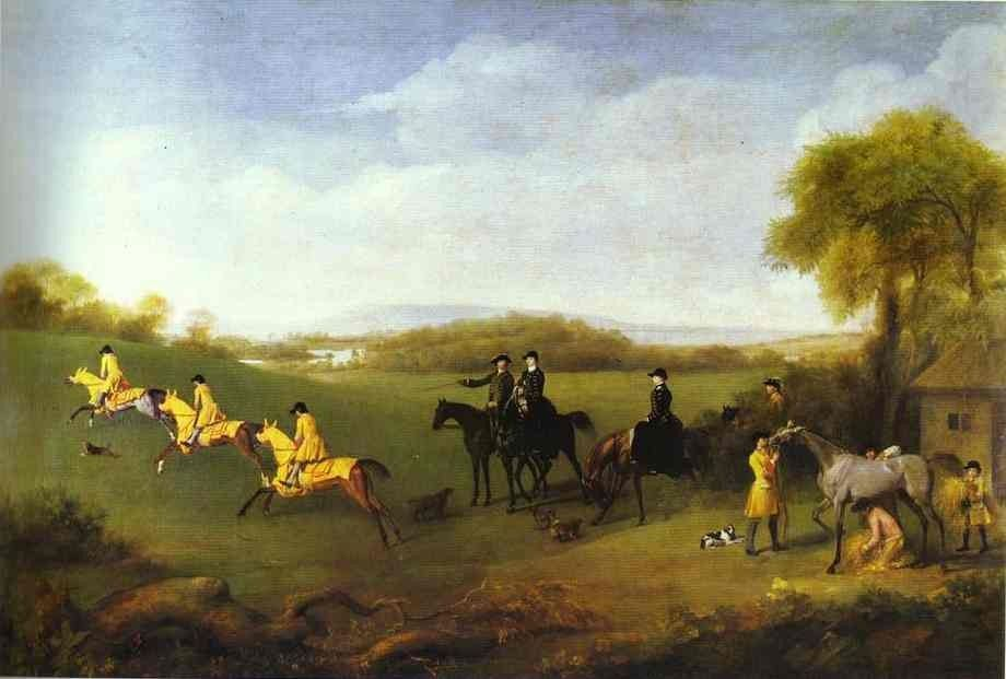 George Stubbs Racehorses Belonging to the Duke of Richmond Exercising at Goodwood