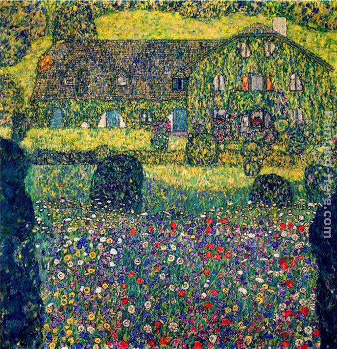 Gustav Klimt Country House on Attersee Lake, Upper Austria
