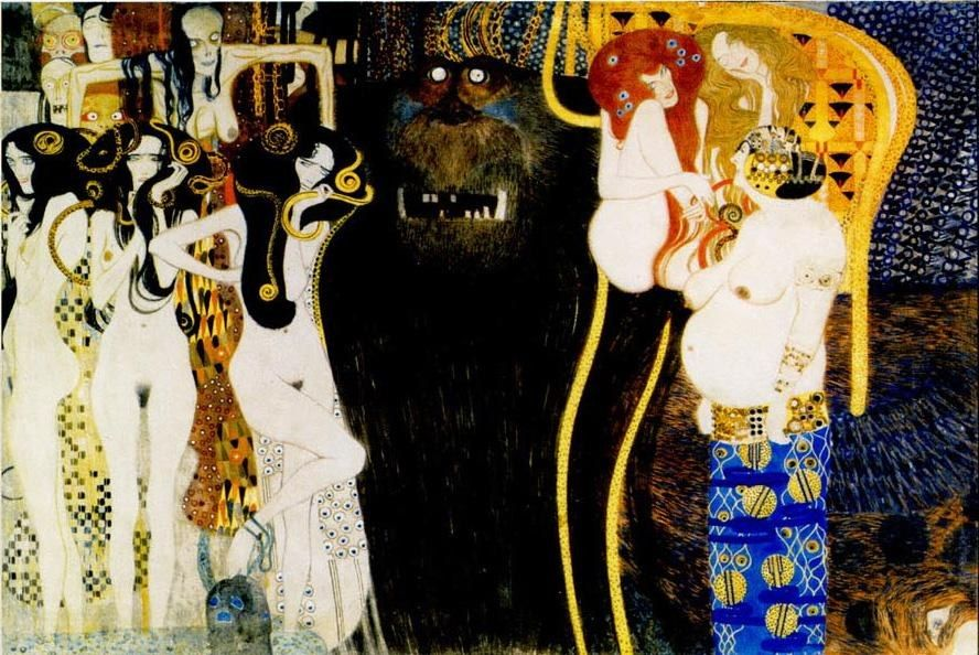 Gustav Klimt Entirety of Beethoven Frieze left5