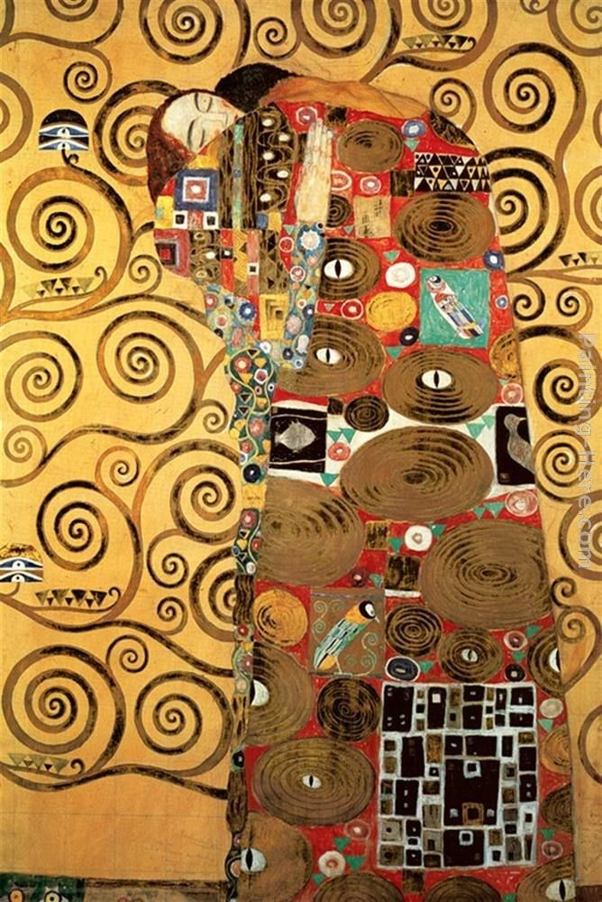 Gustav Klimt Fulfillment,Stoclet Frieze I