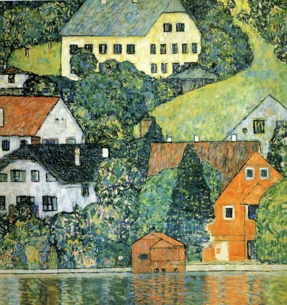 Gustav Klimt Houses at Unterach on the Attersee