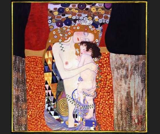 Gustav Klimt mother and child