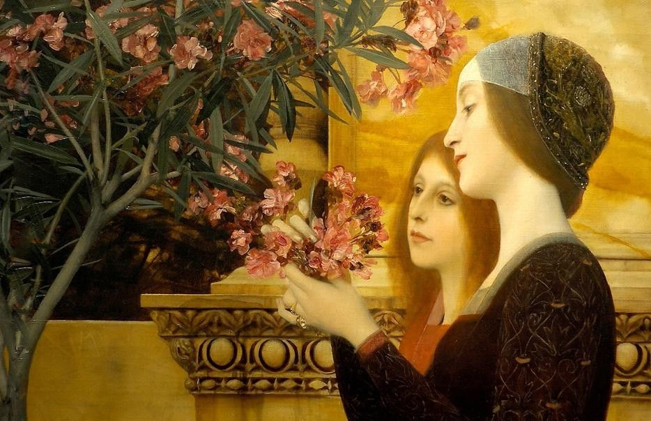 Gustav Klimt two girls with an oleander