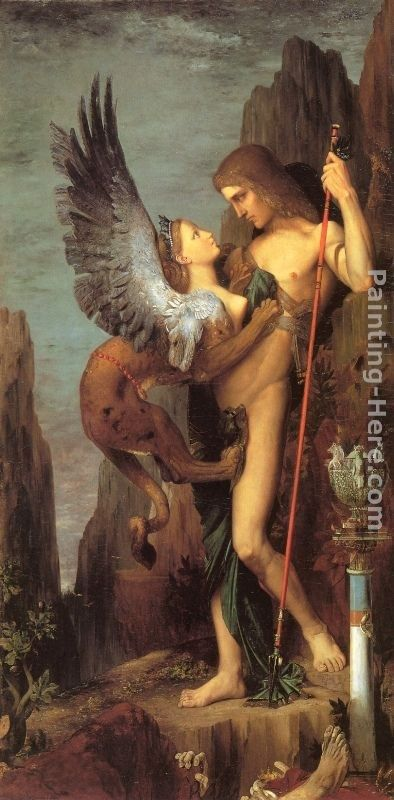 Gustave Moreau Oedipus and the Sphinx
