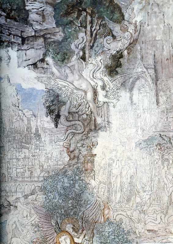 Gustave Moreau The Chimeras - detail