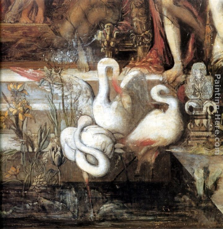 Gustave Moreau The Daughters of Thespius - detail
