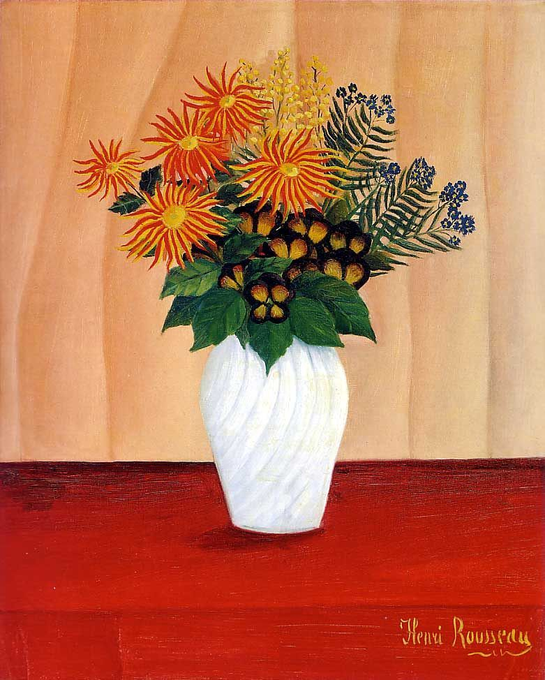 Henri Rousseau Bouquet of Flowers