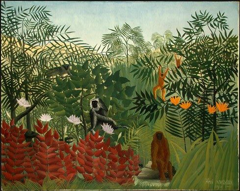 Henri Rousseau Tropical Forest with Monkeys