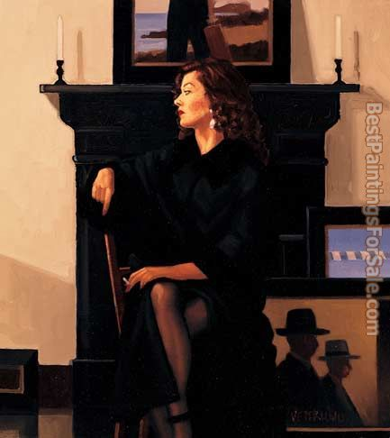 Jack Vettriano Model in Black