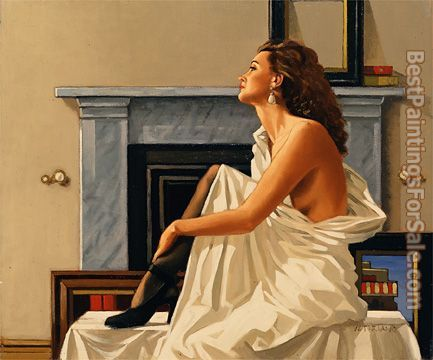 Jack Vettriano Model in White 1993