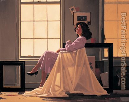 Jack Vettriano Winter Light and Lavender