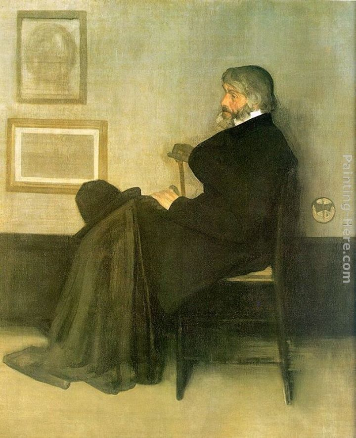 James Abbott McNeill Whistler Arrangement in Gray and Black No.2 Portrait of Thomas Carlyle