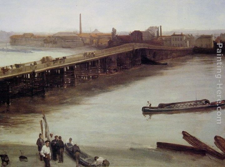 James Abbott McNeill Whistler Brown and Silver Old Battersea Bridge