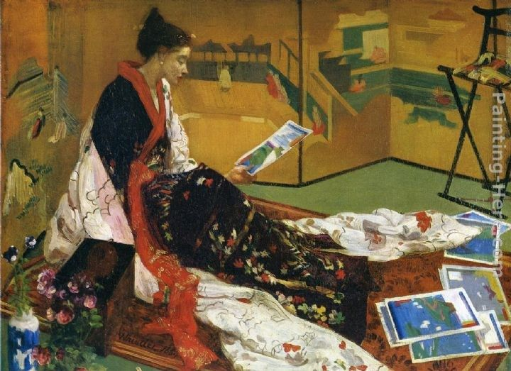 James Abbott McNeill Whistler Caprice in Purple and Gold The Golden Screen