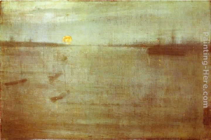 James Abbott McNeill Whistler Nocturne Blue and Gold - Southampton Water