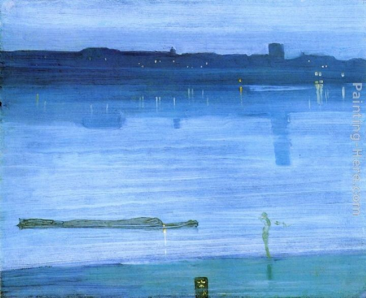 James Abbott McNeill Whistler Nocturne Blue and Silver - Chelsea
