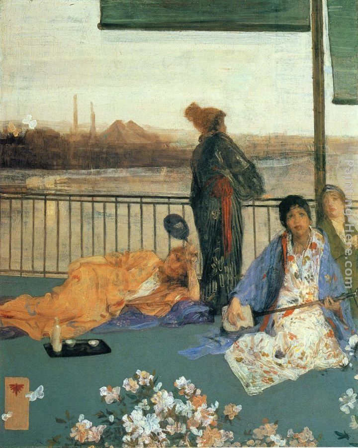 James Abbott McNeill Whistler Variations in Flesh Colour and Green The Balcony