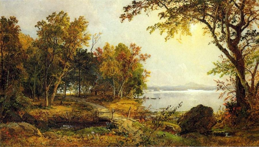 Jasper Francis Cropsey A Cabin on Greenwood Lake