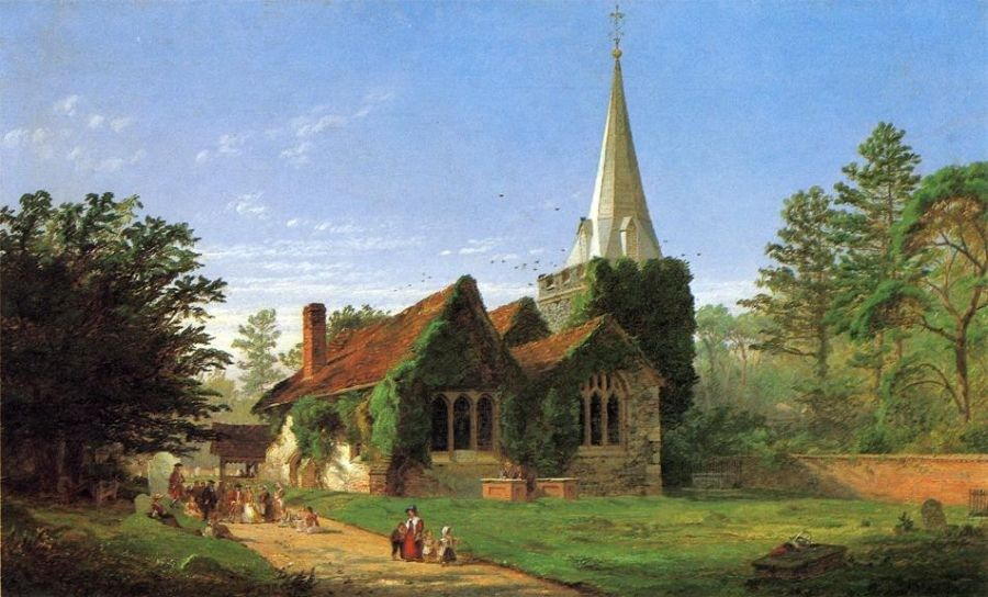 Jasper Francis Cropsey The Church at Stoke Poges