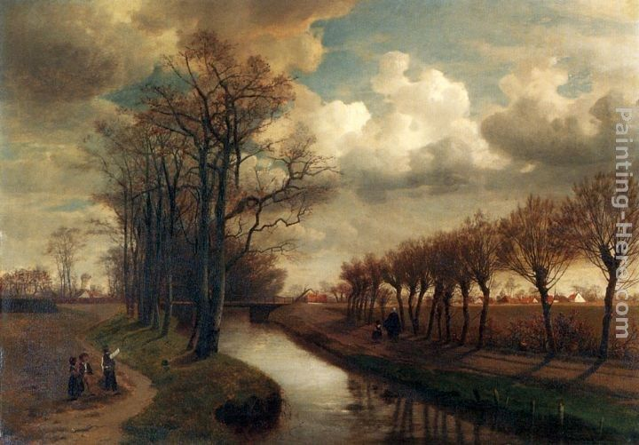 Jean-Pierre-Francois Lamoriniere By The Canal