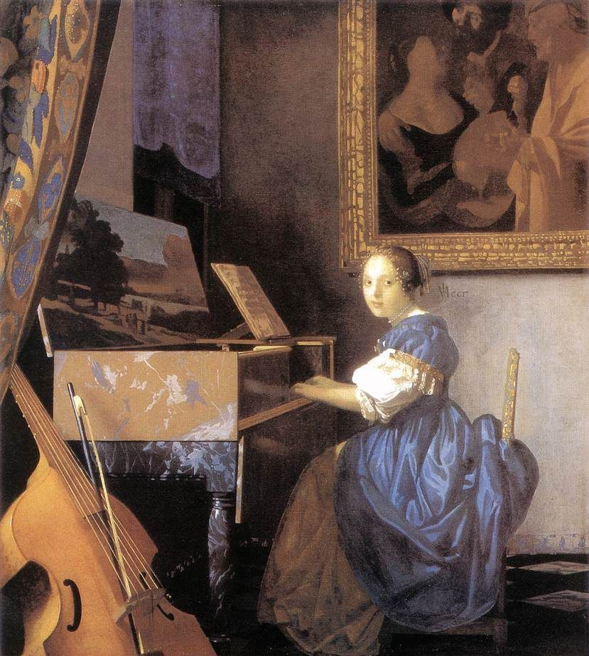 Johannes Vermeer Lady Seated at a Virginal