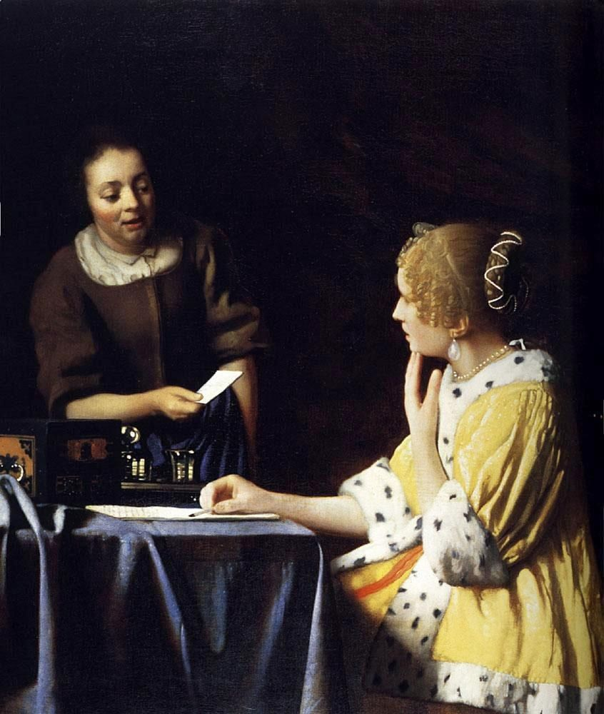 Johannes Vermeer Mistress and Maid
