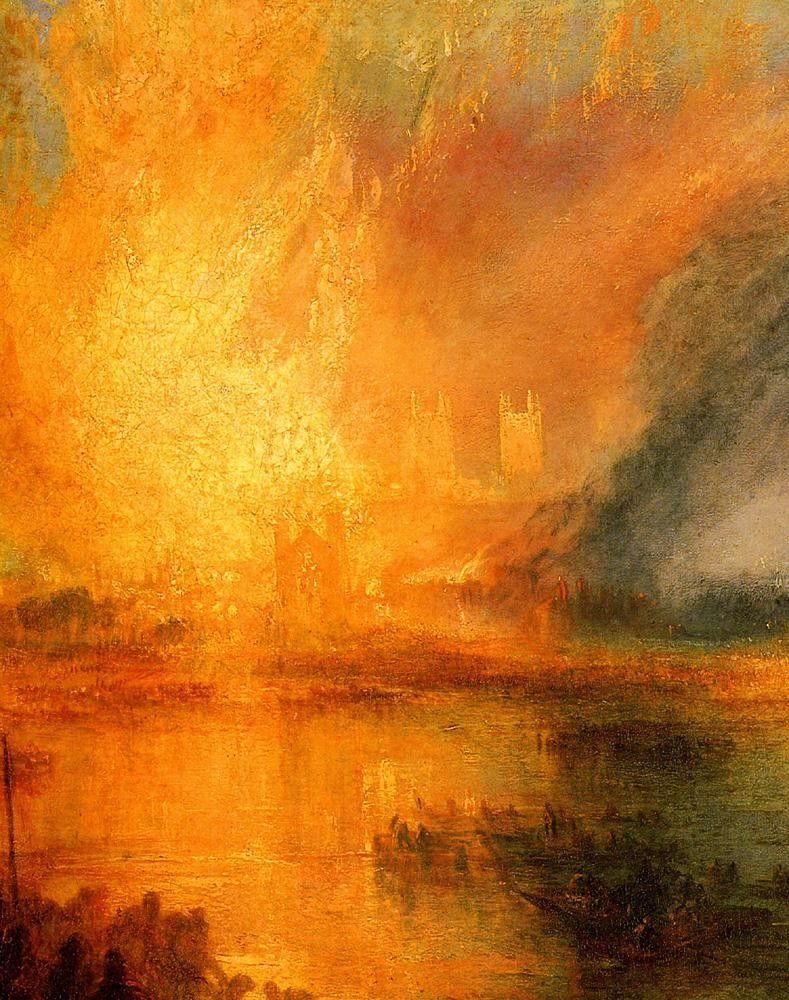 Joseph Mallord William Turner The Burning of the Houses of Parliament detail