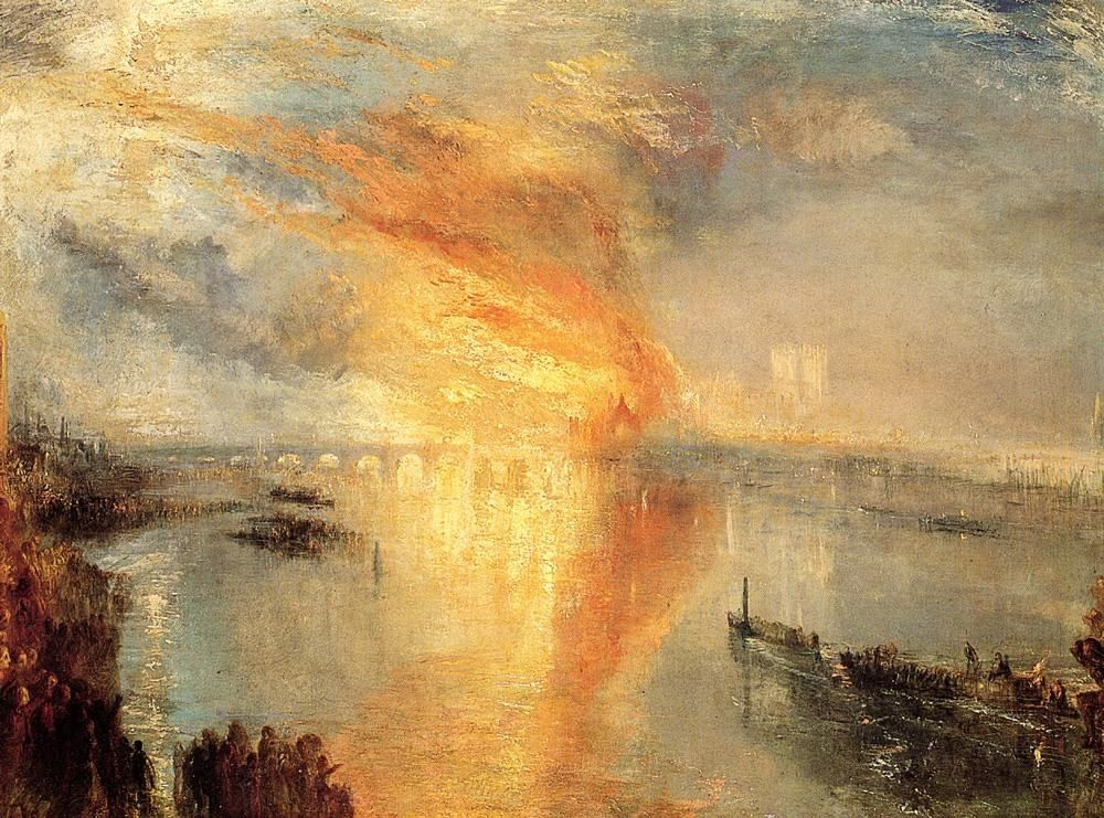 Joseph Mallord William Turner The Burning of the Houses of Parliament