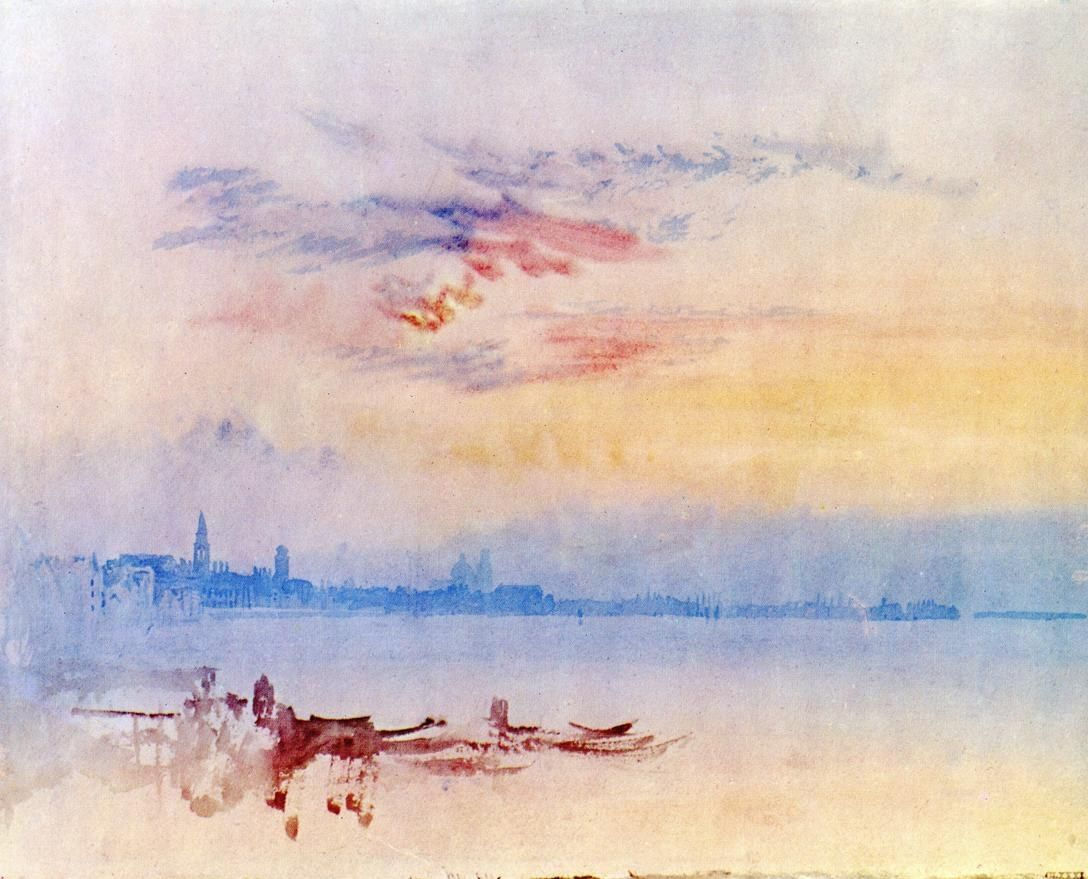 Joseph Mallord William Turner Venice Looking East from the Guidecca Sunrise